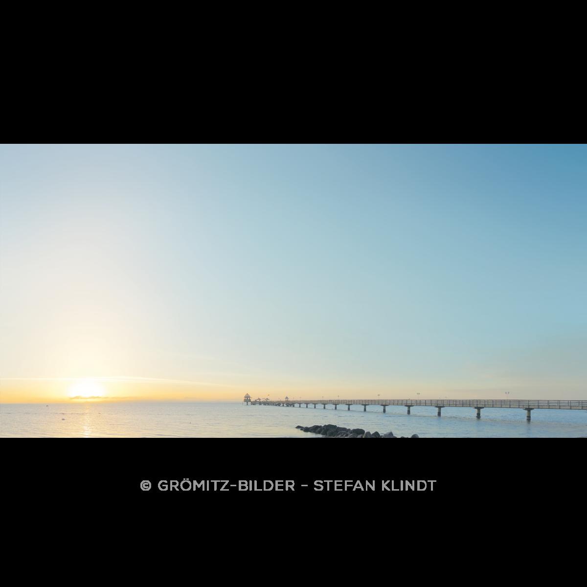 014 Grömitz Bilder Seebrücke im Morgenlicht