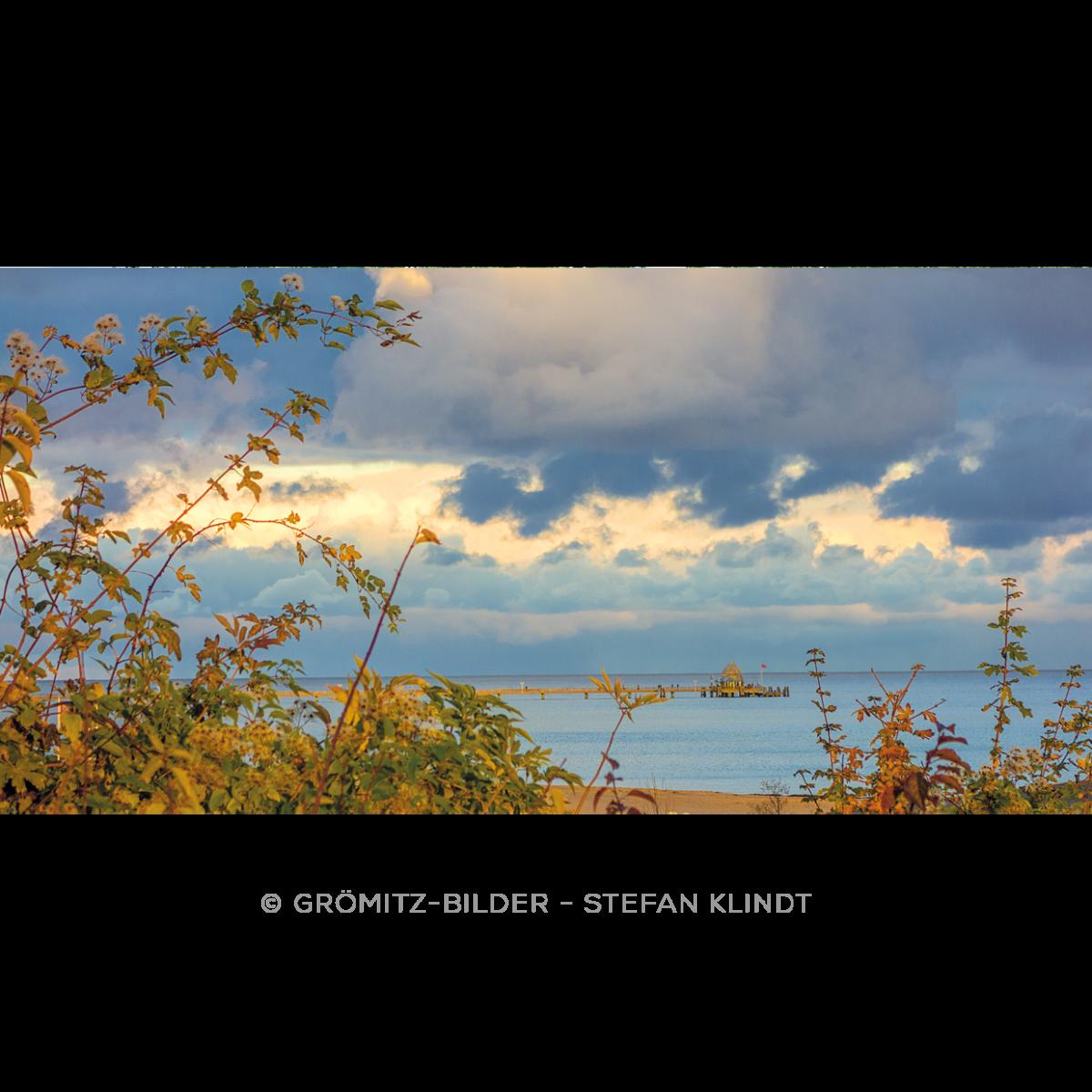 100 Groemitz Bilder - Seebruecke im Abendlicht