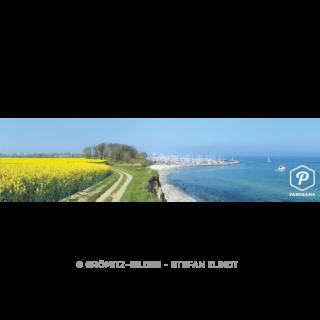 p057 Rapsblüte an der Steilküste mit Yachthafen