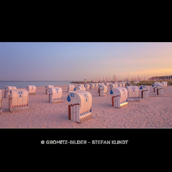"""083 Grömitzer Strand am Hafen zur """"Blauen Stunde"""""""