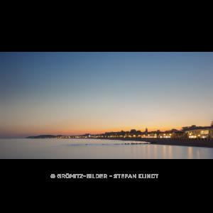086 Grömitz Bilder - Sonnenuntergang hinter der Promenade