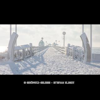 122 Grömitz Bilder - Verschneite Seebrücke