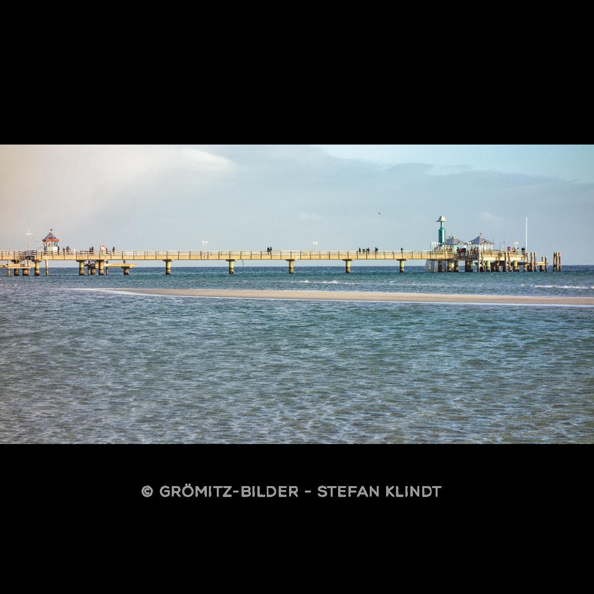 019 Grömitz Bilder - Seebrücke in Niedrigwasser
