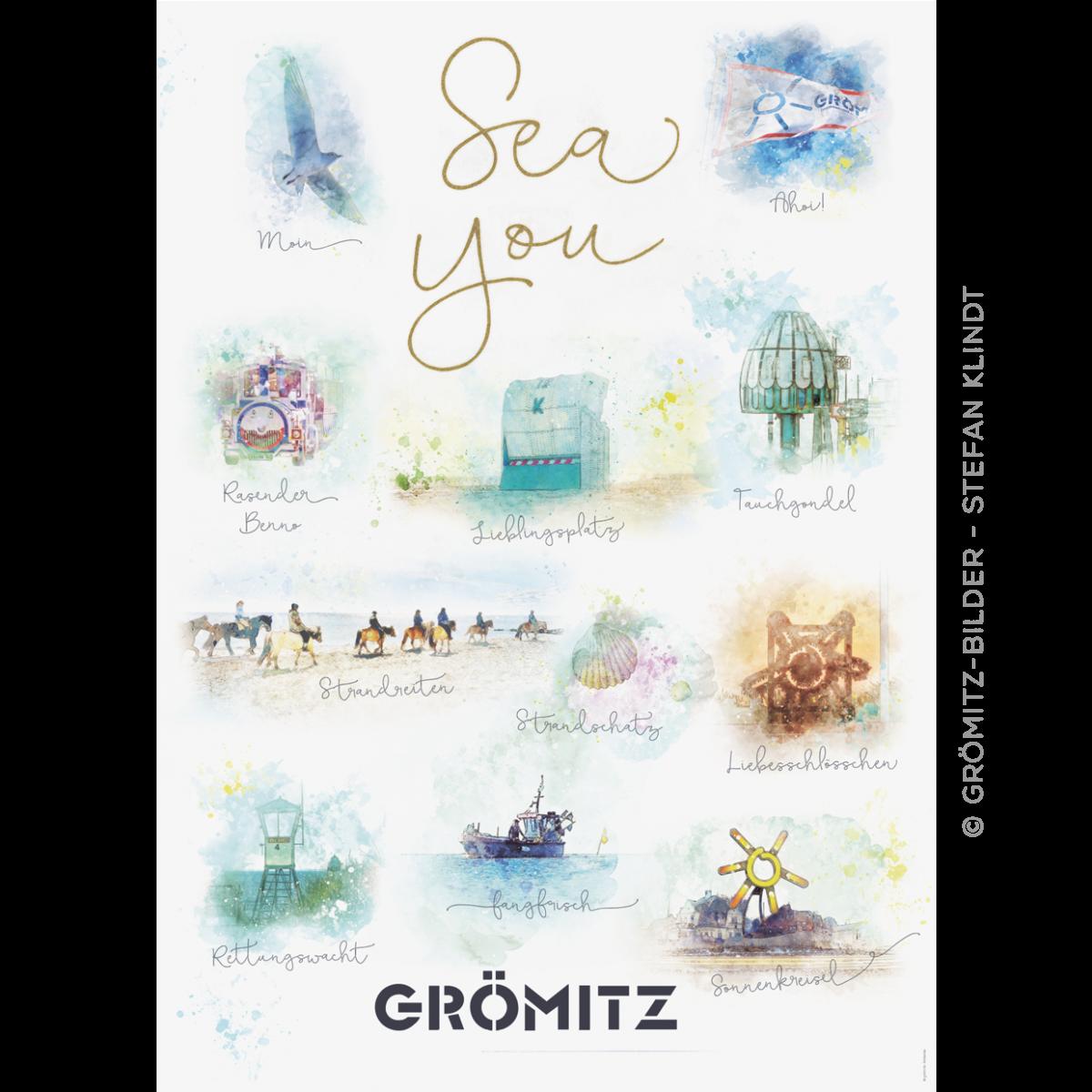 "Grömitz-Fanposter ""SEA YOU"""