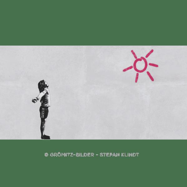 Grömitz Art - Kleine Sonnenanbeterin à la Banksy