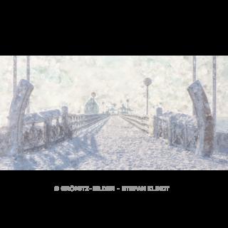 Grömitz Art - Verschneite Seebrücke à la Impressionismus