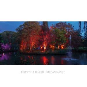 105 Grömitz Bilder - Kurpark - Teich - Lichtermeer im Kurpark