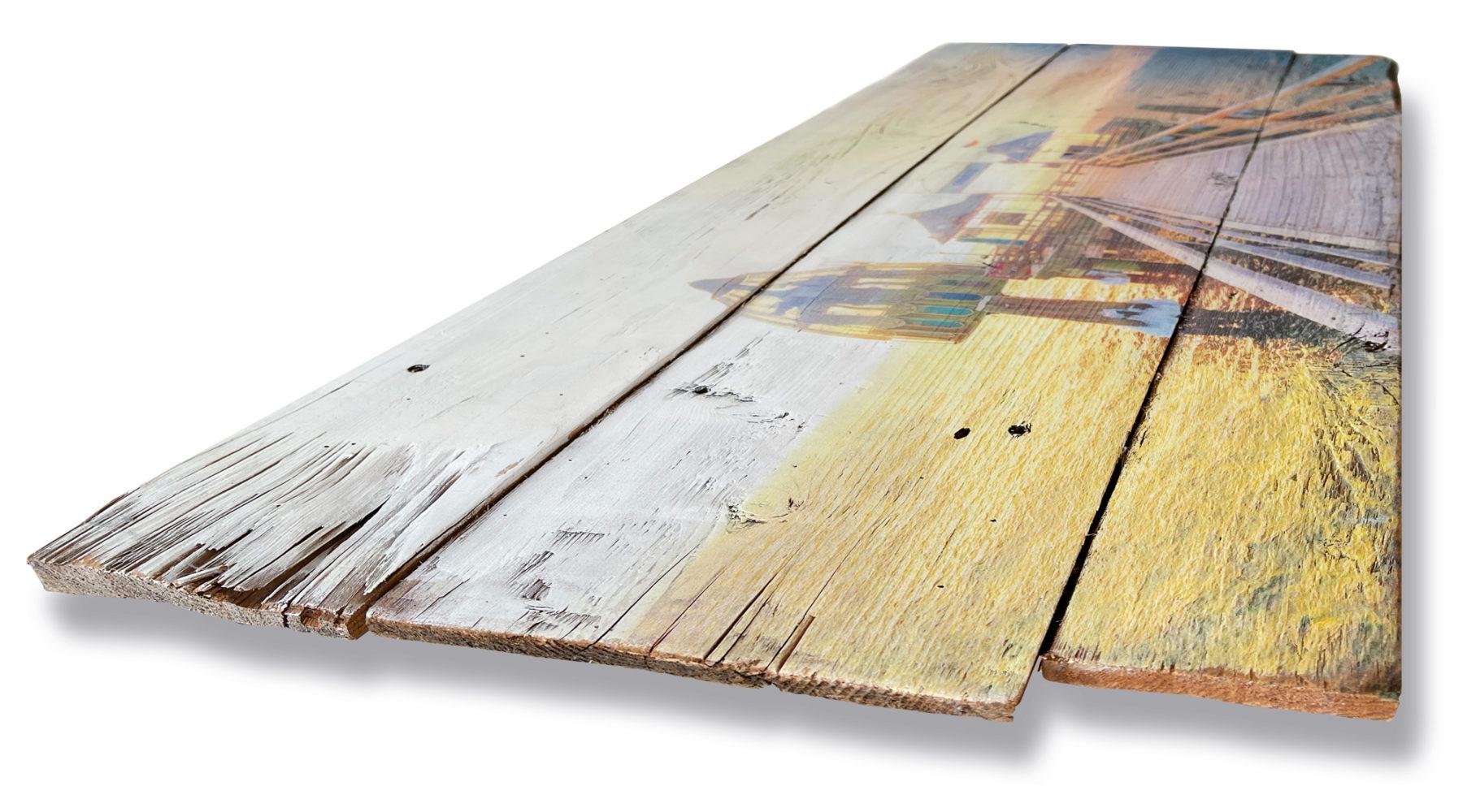 Grömitz Bilder - Druck auf alten Holzlatten