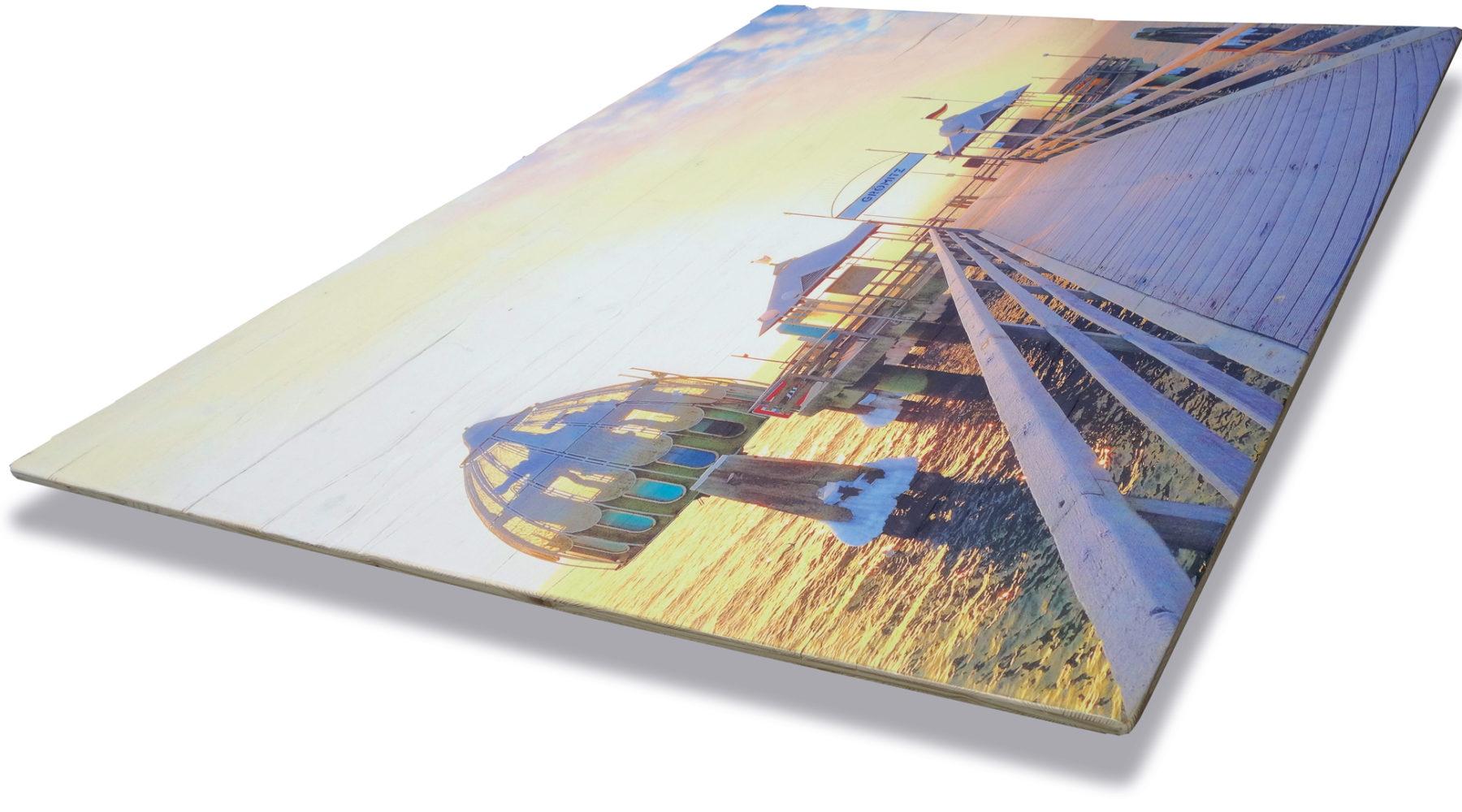 Grömitz Bilder - Druck auf alter Holzplatte